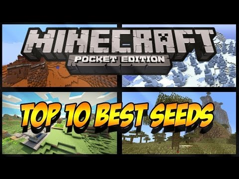 TOP 10 BEST SEEDS MINECRAFT PE 0.9.0 0.9.1 ALL NEW BIOMES