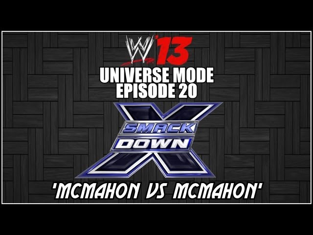 WWE 13 Universe Mode - Smackdown: McMahon vs Mcmahon (Episode 20) thumbnail