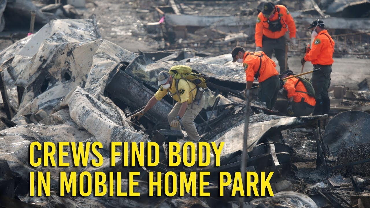 Wine Country fire: Body found in mobile home park search