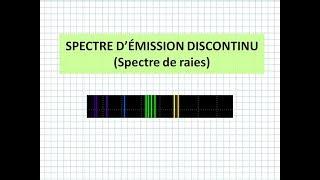 P-089 / SPECTRE D'EMISSION DISCONTINU - SPECTRE DE RAIES