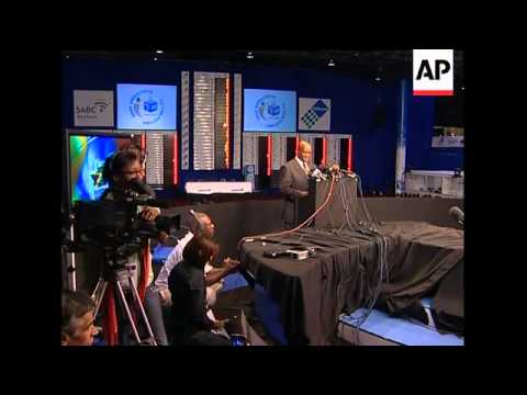 Officials announce elections results, Zuma speech