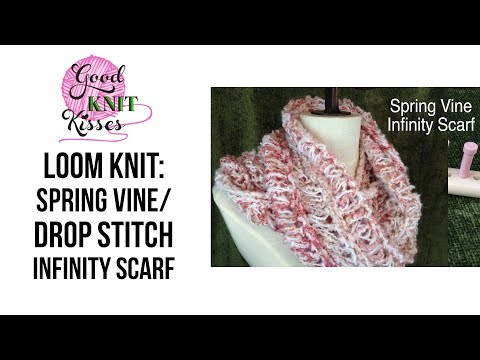 Loom Along: How to Loom Knit a Lacy Infinity Scarf on Martha Stewart Loom