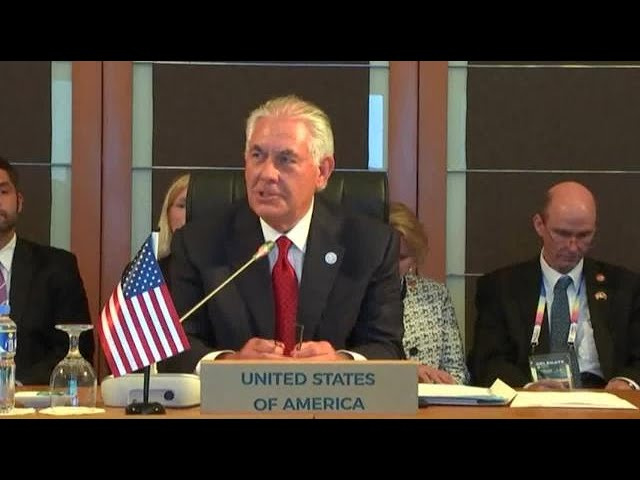 ASEAN Foreign Ministers meet US Secretary Tillerson in Manila