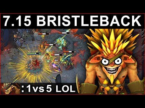 AMAZING BRISTLEBACK PATCH 7.15 DOTA 2 NEW META GAMEPLAY #100 (gattu BRISTLEBACK)