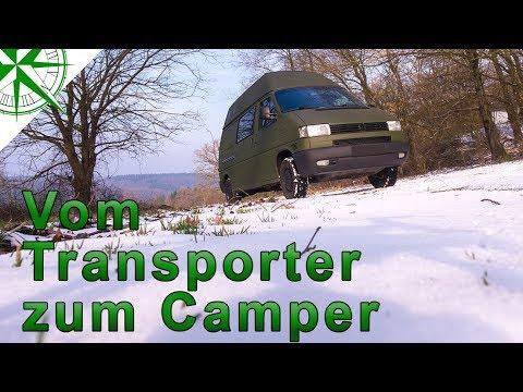 Vorstellung   Roomtour    vom VW T4 Syncro Transporter zum Camper   # 1.