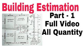 Building Estimation ¦¦ House Estimation part - 1