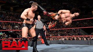 Seth Rollins & Finn Bálor vs. The Miz & The Miztourage - 2-on-3 Handicap Match: Raw, March 5, 2018