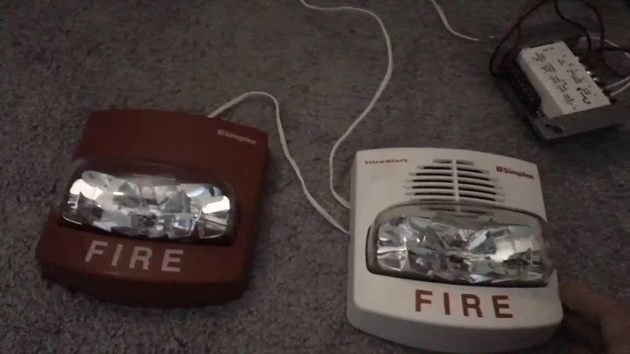 Simplex Truealert 4906 9134 Chime Strobe Fire Alarm Test