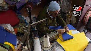 «عم هندي» ملك صناعة الشماسي: « بقالي ٧٠ سنة في المهنة»