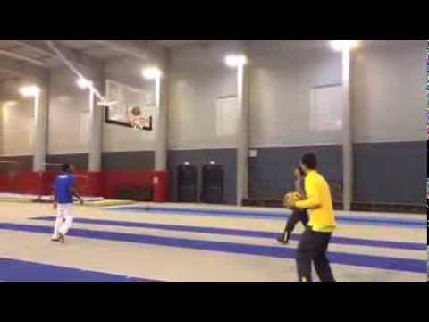 Gael Monfils Dunks With Kyrgios And Kokkinakis | Davis Cup | Tennis Australia