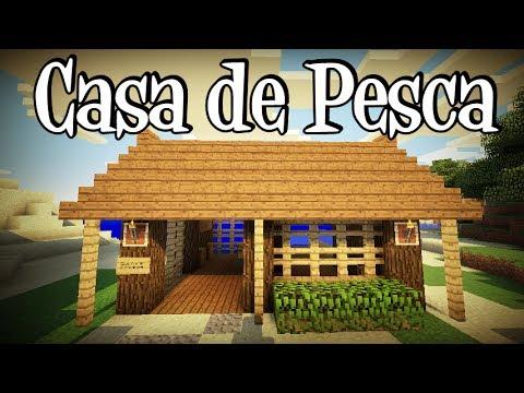 Tutoriais Minecraft: Como Construir uma Casa de Pesca