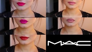 TOP 5 MAC UNIVERSAL LIPSTICK SHADES 2016 | Try On Medium/ Olive Skin Tone