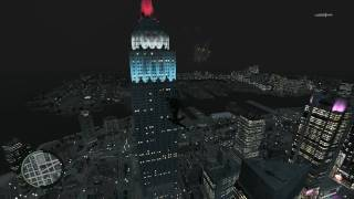 "GTAIV - Fireworks over ""Empire State Building"""