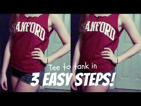 How to Make Cut Off Shirts How to Cut a T-shirt Into a