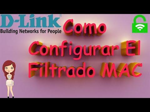 como configurar el filtrado MAC de un router d-link dir-600 versión 3.05