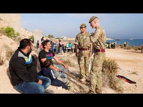 ITV News witnesses refugee boats arriving at RAF base in Cyprus