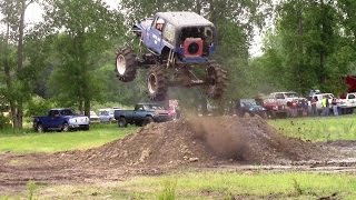 Bottomed Out Jeep Getting Air At Country Compound Spring Mud Bog 2015