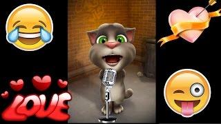 एक भूरी बिल्ली थी जिसे मै प्यार करता था | Funny Hindi Romantic Song By Talking Tom | 100% Fun