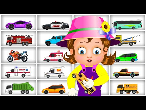 Surprise Eggs Street Vehicles Toys | Vehicles Name and Sound | Kids Toys