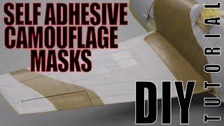 DIY self adhesive camouflage masks - plastic scale modeling tutorial