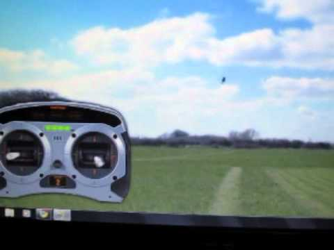 pyro flips showing stick controls, RC helicopter 3D flight lesson