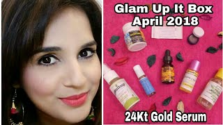 Glamitup Organo Box April 2018 @ Rs. 299 | 24k Gold Serum | 7 Skincare Products | Unboxing + Review