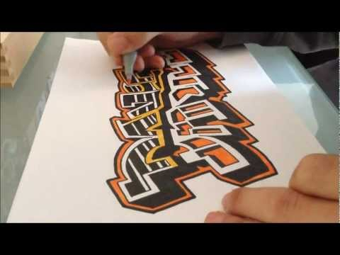 How to draw Graffiti - My Name Daniel