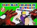 SuperHeroes Iron Man Colors In Hawkeye Avengers Coloring Book ToyfunTV mp3