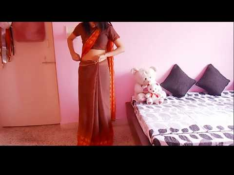 Bollywood Saree Draping Tutorial-low Waist Sari Wearing Tutorial To Look Slim video