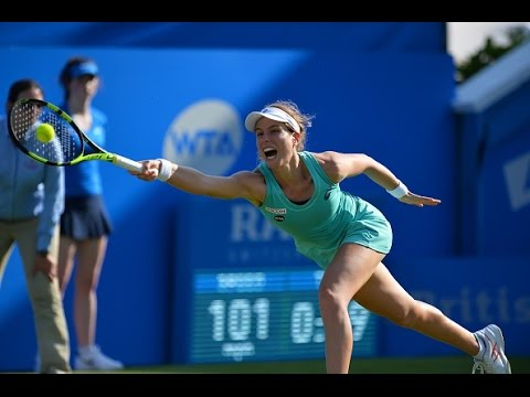 2016 Aegon International Round of 16 | Johanna Konta vs Petra Kvitova | WTA Highlights