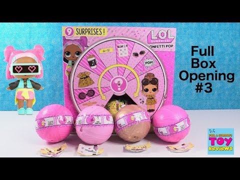 LOL Surprise Confetti Pop Doll Full Case Unboxing #3 Toy Review   PSToyReviews