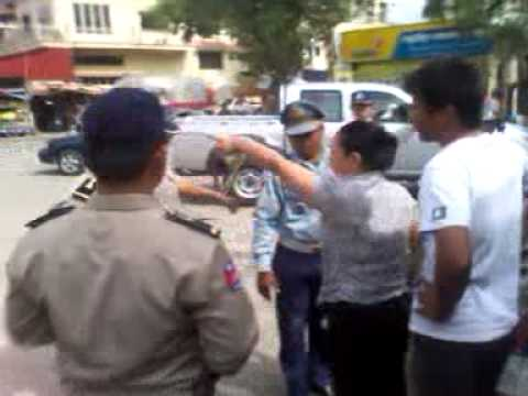 Khmer Polices with people