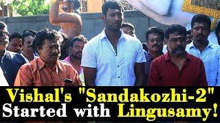 "Vishal's ""Sandakozhi-2"" Started with Lingusamy!"