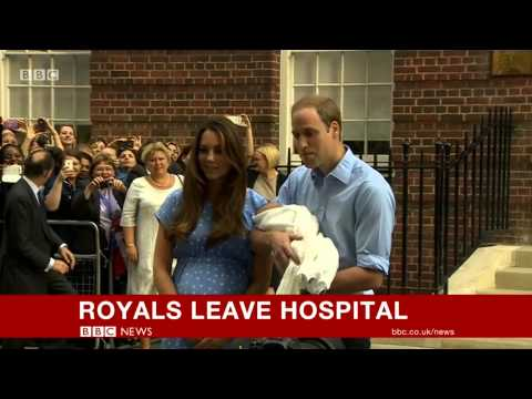 Prince George Alexander Louis - Royal Baby FIRST APPEARENCE!  Prince William Kate MiddletonHospital