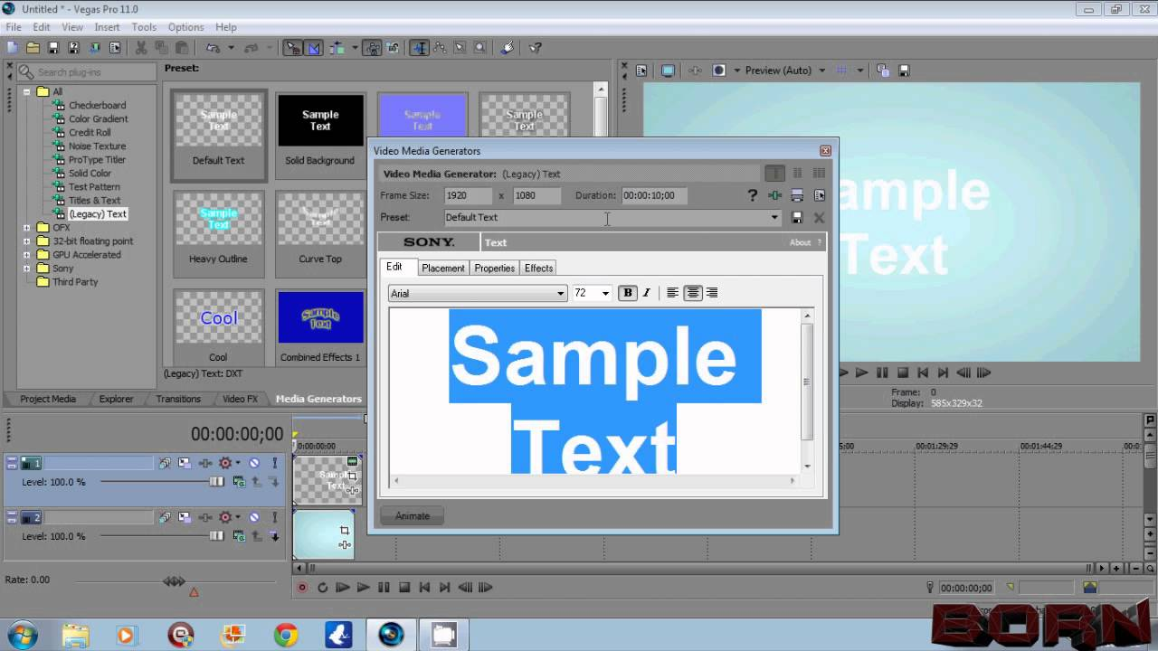 Sony Vegas How to Add Transparent Text or Image - YouTube