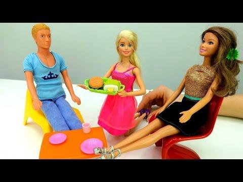 Барби и Кен открывают кафе. Игры Барби для девочек