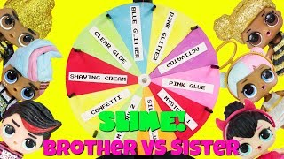 LOL Sister VS Brother Mystery Slime Spinning Wheel Challenge Spice Boi, King Bee, Sugar Boi