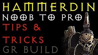 HAMMERDIN - TIPS & TRICKS - Crusader GR Build - Season 13 - Diablo 3 RoS 2.6.1 - Gaming with Baromir