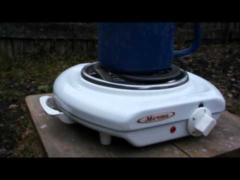 Варка литиевых 3-х вольтовых батареек в солёной воде.