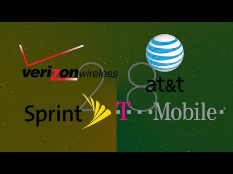 Verizon vs AT&T vs Sprint vs T-Mobile 2013 - Phone Wars 11 - Network Wars (part 1)