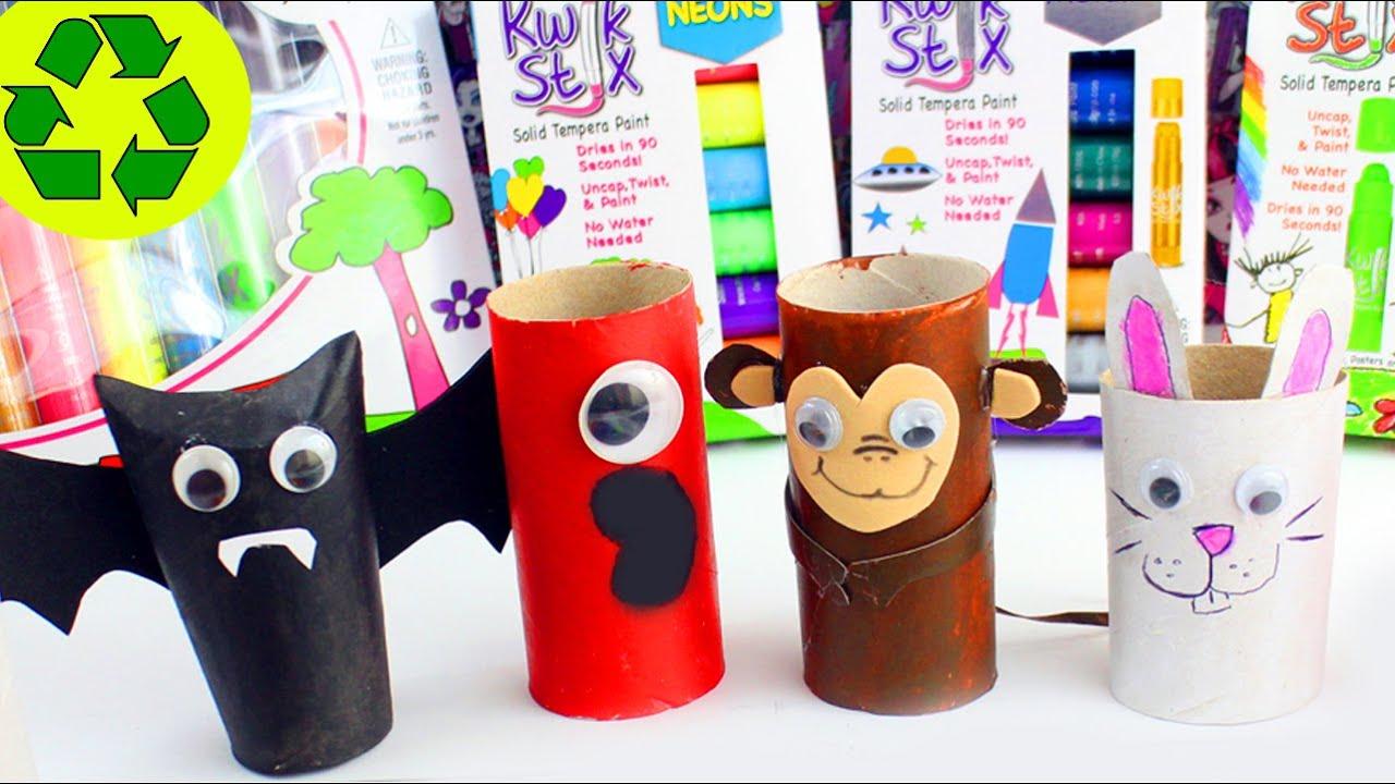 7 Manualidades Con Rollos De Papel Higienico Kwik Stix - Manualidades-rollos-papel