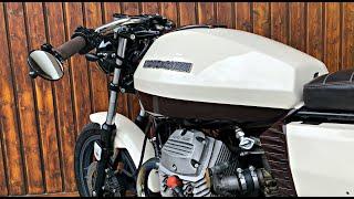 Moto Guzzi V50 cafe racer rebuild - Time-Lapse