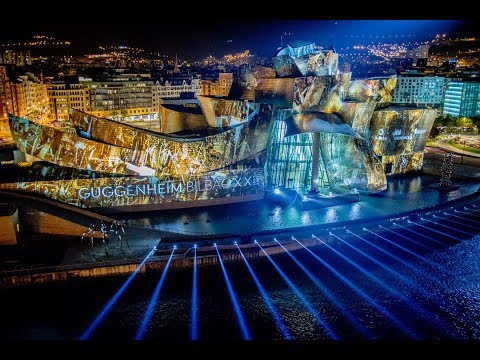 Guggenheim 2017 'Reflections' Bilbao, 20th Anniversary Projection.