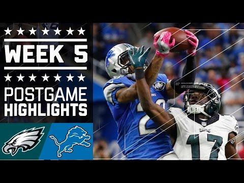 Eagles Vs Lions Nfl Week 5 Game Highlights