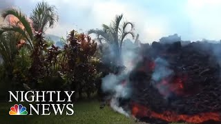 Lava Consumes Homes Following Hawaii Volcanic Eruption | NBC Nightly News