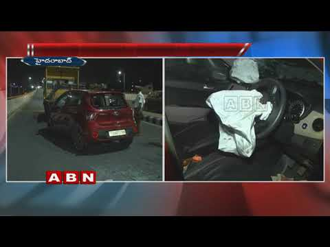 Road Mishap On PV Express Way | Few Hurt | Hyderabad
