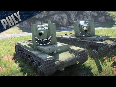 War Thunder - KV-2 BEST TANK! Big Gun/Derp COMBO! (War Thunder Tanks Gameplay)