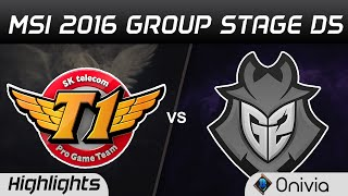 SKT vs G2 Highlights MSI 2016 D5 SK Telecom T1 vs G2 Esports