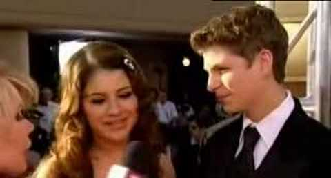 Michael Cera and Alia Shawkat at the 2005 Golden Globes