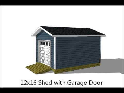 5 Exciting 12x16 Storage Shed Plans - YouTube